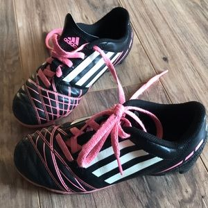 Other - Adidas Cleats Black, Neon Pink and White